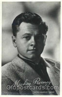 act018085 - Mickey Rooney Actor, Actress, Movie Star, Postcard Post Card
