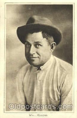 act018094 - Will Rogers Actor, Actress, Movie Star, Postcard Post Card