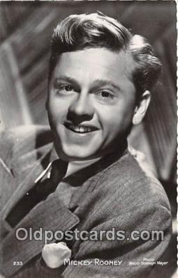act018124 - Mickey Rooney Movie Actor / Actress, Entertainment Postcard Post Card