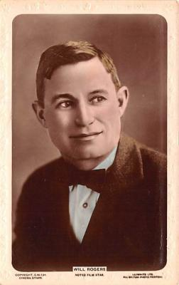 act018151 - Will Rogers, Noted Film Star Movie Star Actor Actress Film Star Postcard, Old Vintage Antique Post Card
