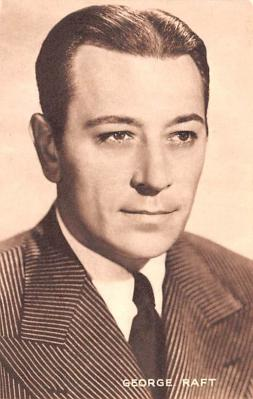 act018159 - George Raft Movie Star Actor Actress Film Star Postcard, Old Vintage Antique Post Card