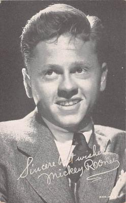 act018174 - Mickey Rooney Movie Star Actor Actress Film Star Postcard, Old Vintage Antique Post Card