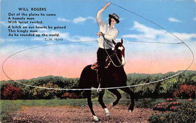 act018178 - Will Rogers Movie Star Actor Actress Film Star Postcard, Old Vintage Antique Post Card