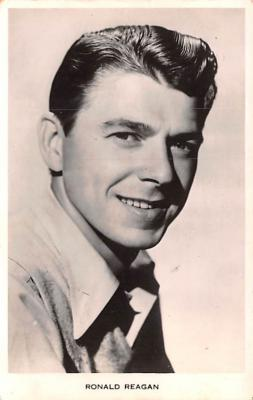 act018189 - Ronald Reagan Movie Star Actor Actress Film Star Postcard, Old Vintage Antique Post Card