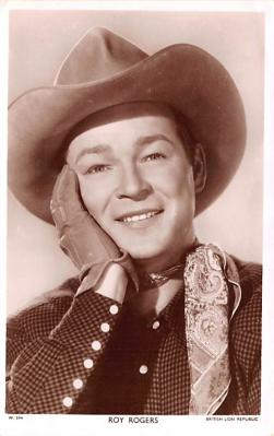 act018209 - Roy Rogers Movie Star Actor Actress Film Star Postcard, Old Vintage Antique Post Card