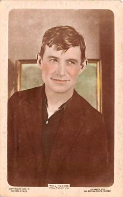 act018225 - Will Rogers, Stoll Picture Star Movie Star Actor Actress Film Star Postcard, Old Vintage Antique Post Card