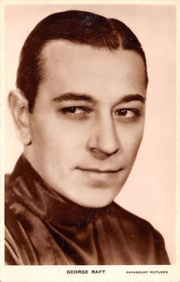 act018227 - George Raft Movie Star Actor Actress Film Star Postcard, Old Vintage Antique Post Card