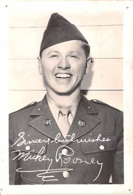 act018240 - Mickey Rooney Movie Star Actor Actress Film Star Postcard, Old Vintage Antique Post Card