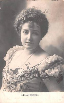 act018254 - Lillian Russell Movie Star Actor Actress Film Star Postcard, Old Vintage Antique Post Card