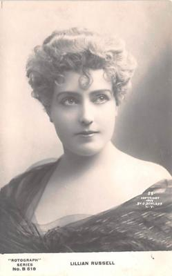 act018265 - Lillian Russell Movie Star Actor Actress Film Star Postcard, Old Vintage Antique Post Card