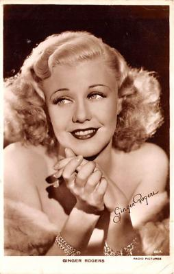 act018273 - Ginger Rogers Movie Star Actor Actress Film Star Postcard, Old Vintage Antique Post Card