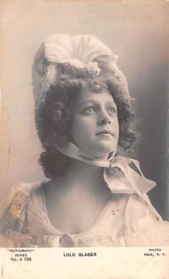 act018282 - Lulu Glaser Movie Star Actor Actress Film Star Postcard, Old Vintage Antique Post Card