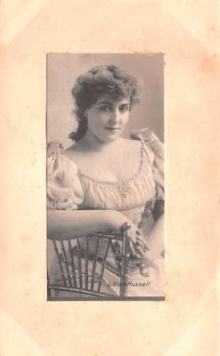 act018286 - Lillian Russell Movie Star Actor Actress Film Star Postcard, Old Vintage Antique Post Card