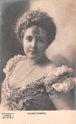 act018293 - Lillian Russell Movie Star Actor Actress Film Star Postcard, Old Vintage Antique Post Card