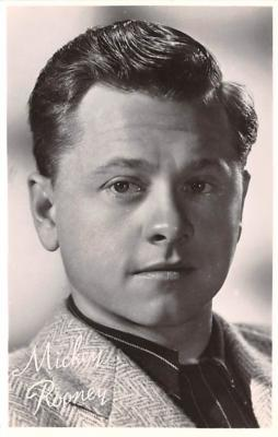 act018295 - Mickey Rooney Movie Star Actor Actress Film Star Postcard, Old Vintage Antique Post Card