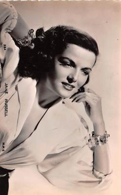 act018296 - Jane Russell Movie Star Actor Actress Film Star Postcard, Old Vintage Antique Post Card