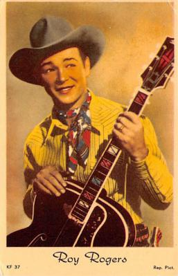 act018312 - Roy Rogers Movie Star Actor Actress Film Star Postcard, Old Vintage Antique Post Card