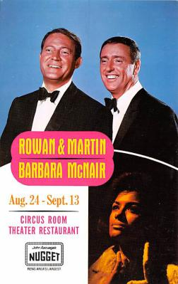 act018317 - Rowan & Martin, Celebrity Room Theater Restaurant Movie Star Actor Actress Film Star Postcard, Old Vintage Antique Post Card