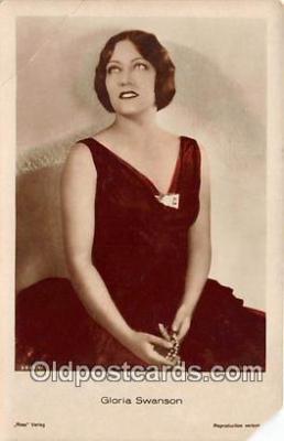 act019141 - Gloria Swanson Movie Actor / Actress, Entertainment Postcard Post Card