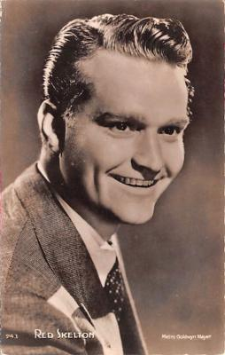 act019151 - Red Skelton Movie Star Actor Actress Film Star Postcard, Old Vintage Antique Post Card
