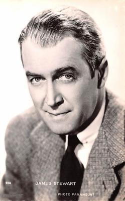 act019164 - James Stewart Movie Star Actor Actress Film Star Postcard, Old Vintage Antique Post Card