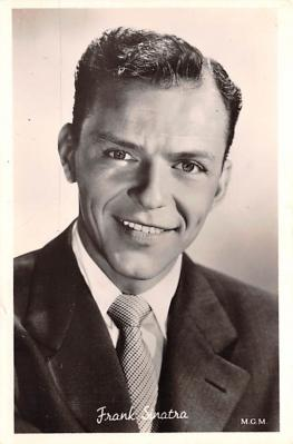 act019172 - Frank Sinatra Movie Star Actor Actress Film Star Postcard, Old Vintage Antique Post Card