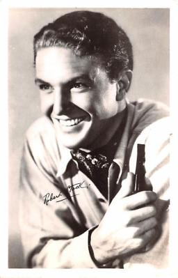 act019180 - Robert Stack Movie Star Actor Actress Film Star Postcard, Old Vintage Antique Post Card