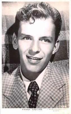 act019228 - Frank Sinatra Movie Star Actor Actress Film Star Postcard, Old Vintage Antique Post Card