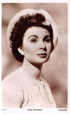 act019240 - Jean Simmons Movie Star Actor Actress Film Star Postcard, Old Vintage Antique Post Card