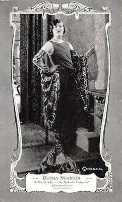 act019265 - Gloria Swanson, Her Husband's Trademark Movie Star Actor Actress Film Star Postcard, Old Vintage Antique Post Card