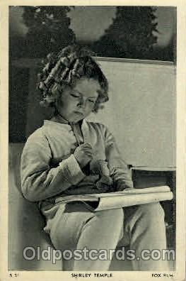 Shirley Temple Actress Postcard