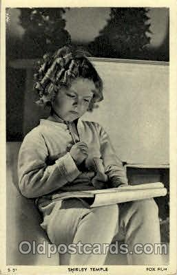 act020150 - Shirley Temple Actress Postcard Post Cards Old Vintage Antique Movie Star