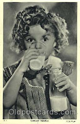 Shirley Temple Actor, Actress, Movie Star, Postcard Post Card