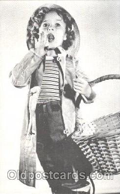 Non Postcard Backing,  Actress Shirley Temple Postcard Post Card