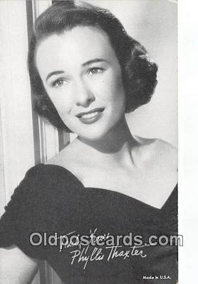 act020273 - Phyliss Thaxter Movie Actor / Actress, Entertainment Postcard Post Card