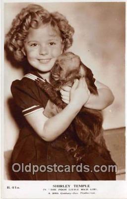 act020386 - Shirley Temple Postcard
