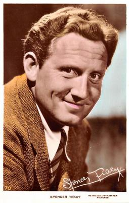 act020477 - Spencer Tracy Movie Star Actor Actress Film Star Postcard, Old Vintage Antique Post Card