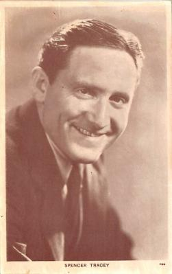 act020480 - Spencer Tracy Movie Star Actor Actress Film Star Postcard, Old Vintage Antique Post Card
