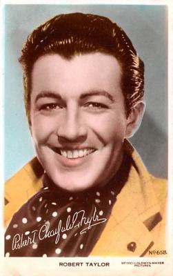 act020485 - Robert Taylor Movie Star Actor Actress Film Star Postcard, Old Vintage Antique Post Card