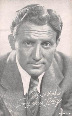 act020488 - Spencer Tracy Movie Star Actor Actress Film Star Postcard, Old Vintage Antique Post Card