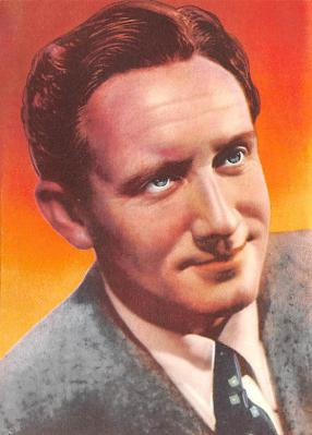 act020490 - Sherman's Series of Famous Film Stars, Spencer Tracy Movie Star Actor Actress Film Star Postcard, Old Vintage Antique Post Card