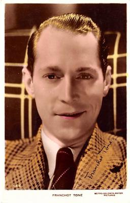 act020494 - Franchot Tone Movie Star Actor Actress Film Star Postcard, Old Vintage Antique Post Card