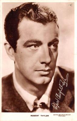 act020495 - Robert Taylor Movie Star Actor Actress Film Star Postcard, Old Vintage Antique Post Card