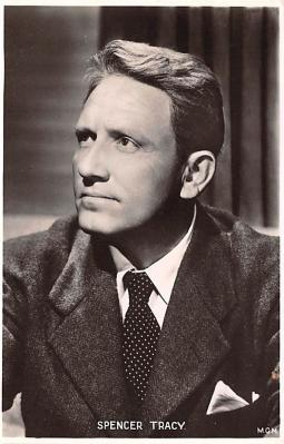 act020496 - Spencer Tracy Movie Star Actor Actress Film Star Postcard, Old Vintage Antique Post Card