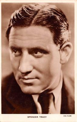 act020503 - Spencer Tracy Movie Star Actor Actress Film Star Postcard, Old Vintage Antique Post Card