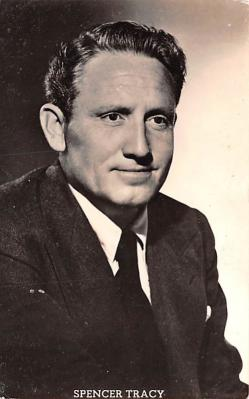 act020515 - Spencer Tracy Movie Star Actor Actress Film Star Postcard, Old Vintage Antique Post Card