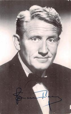 act020525 - Father and the Actress, Spencer Tracy Movie Star Actor Actress Film Star Postcard, Old Vintage Antique Post Card