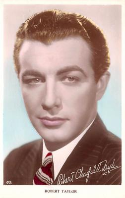 act020526 - Robert Taylor Movie Star Actor Actress Film Star Postcard, Old Vintage Antique Post Card