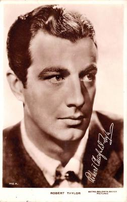 act020528 - Robert Taylor Movie Star Actor Actress Film Star Postcard, Old Vintage Antique Post Card