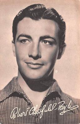 act020529 - Robert Taylor Movie Star Actor Actress Film Star Postcard, Old Vintage Antique Post Card